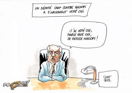 député UMP contre pour hadopi vote