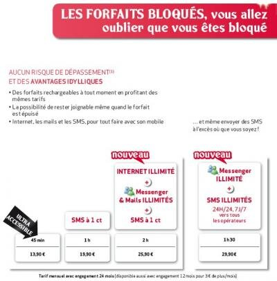 Virgin Mobile forfaits bloqués