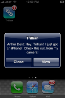Trillian astra iphone