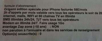 iphone orange 3GS modem option contrat