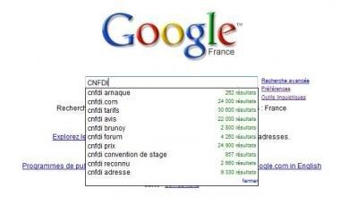 google CNFDI litige suggest