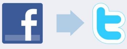twitter relié connecté facebook contenu futilité