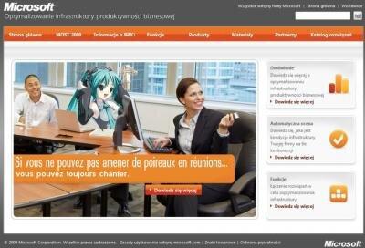 microsoft publicité pologne