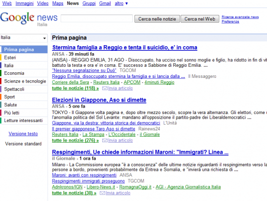 Google Italie