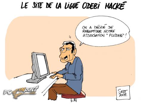 Ligue Odebi DDOS dessin