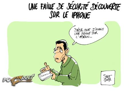 faille sécurité iphone écran numéro téléphone