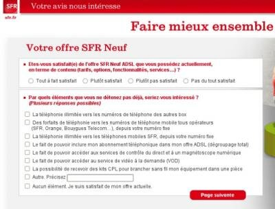 SFR sondage téléphonie mobile