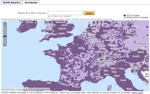 Amazon Kindle couverture 3G Edge France Europe