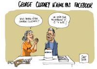 George Clooney Facebook dessin
