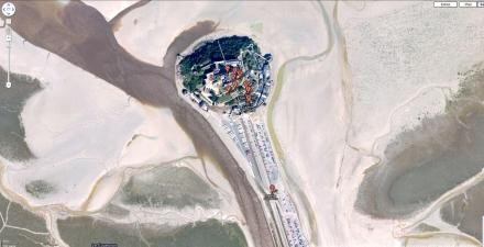 mont saint michel google street view