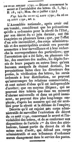 assemblée nationale 20 juillet 1791 surveillance e