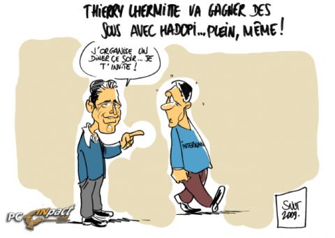 Thierry lhermitte Hadopi