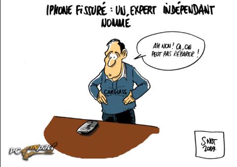 iphone fissure expert dessin