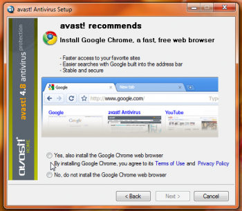 avast chrome