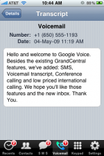 google voice central black swan