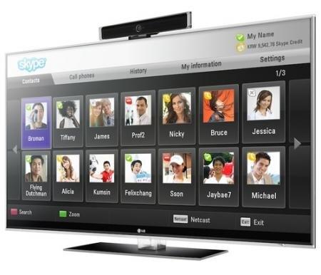skype LG Panasonic télévision TV HD