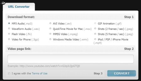FLV converter video MP3 GIF youtube convertir