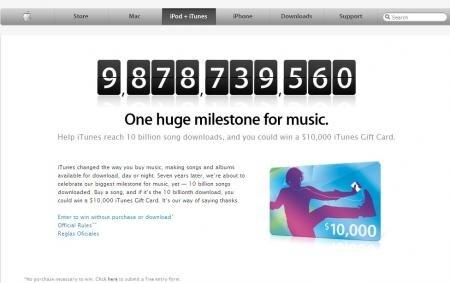 iTunes Store 10 milliards