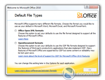 office 2010 ballot screen