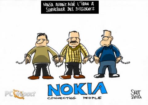 nokia connecting people iran surveillance