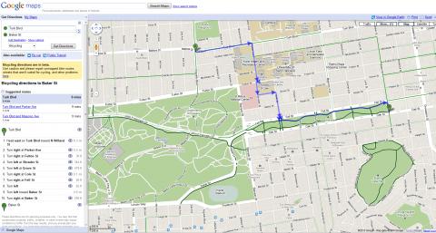 google cycliste vélo maps