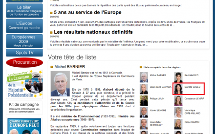 michel barnier marielle gallo europe liste UMP