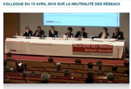 colloque ARCEP neutralité internet