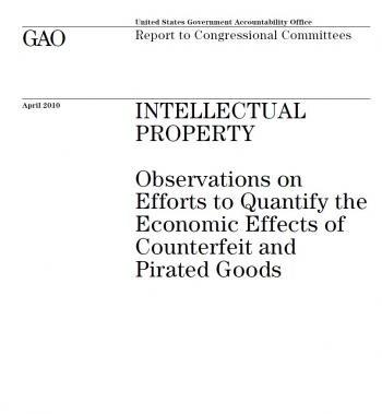 Rapport GAO chiffre piratage effet économique