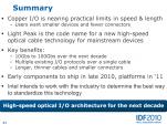 Intel IDF 2010 Pékin Light Peak