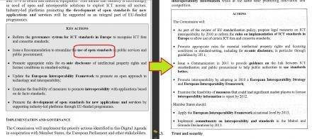 agenda numérique européen standards ouverts