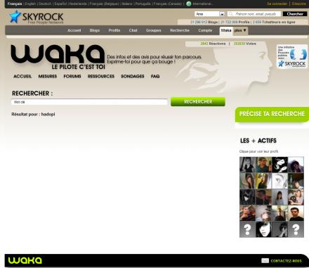 waka skyblog skyrock gouvernement
