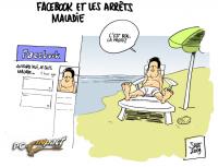 Facebook arret maladie dessin