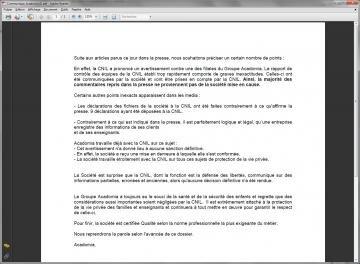 acadomia CNIL fiches fichiers communiqués