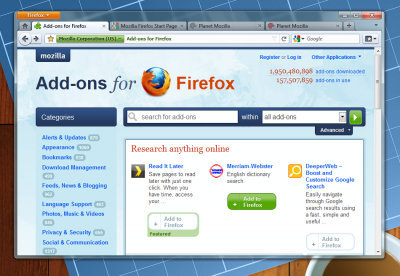 firefox 4 concepts maquettes