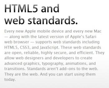 apple safari html5