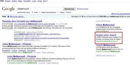 google adwords bettencourt soutien eric woerth