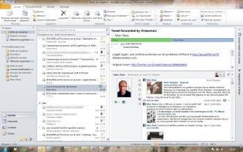 outlook social connector facebook