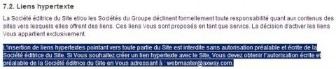 Mentions Legales Liens Hypertextes Axway