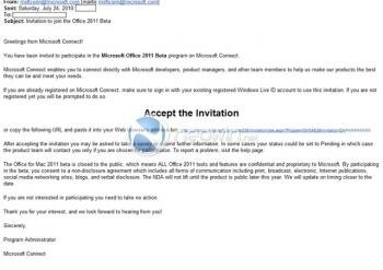 office 2011 invitation