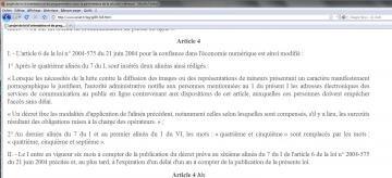 LOPPSI scrutin article 4 filtrage