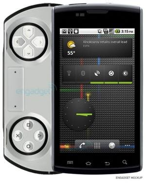 Sony Ericsson Android PSP Mockup Engadget