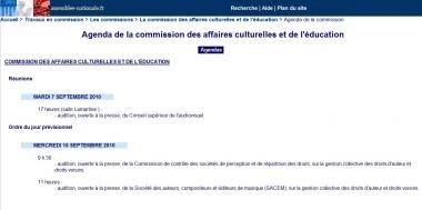 commission affaires culturelles SACEM