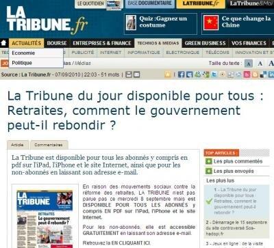 La Tribune gratuite