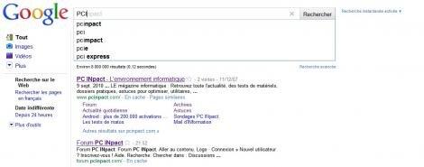 google recherche instantanée