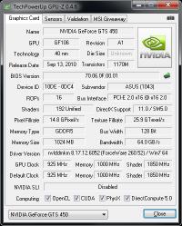GeForce GTS 450 Asus