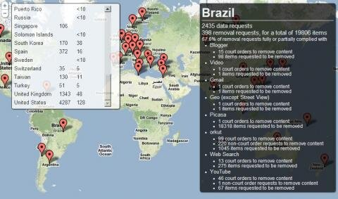 Google Transparency Report Government Requests Brasil