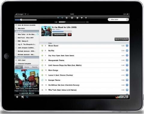 iPad Deezer