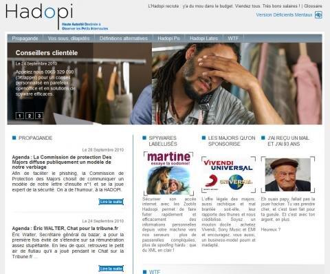 hadopi concours détournement homepage