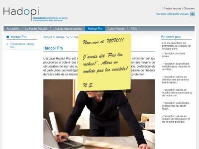 hadopi pastiche contournement hadopi.fr pcinpact