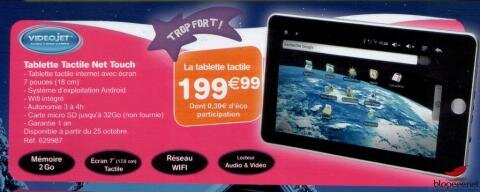ToysRUS France tablette tactile Android VideoJet